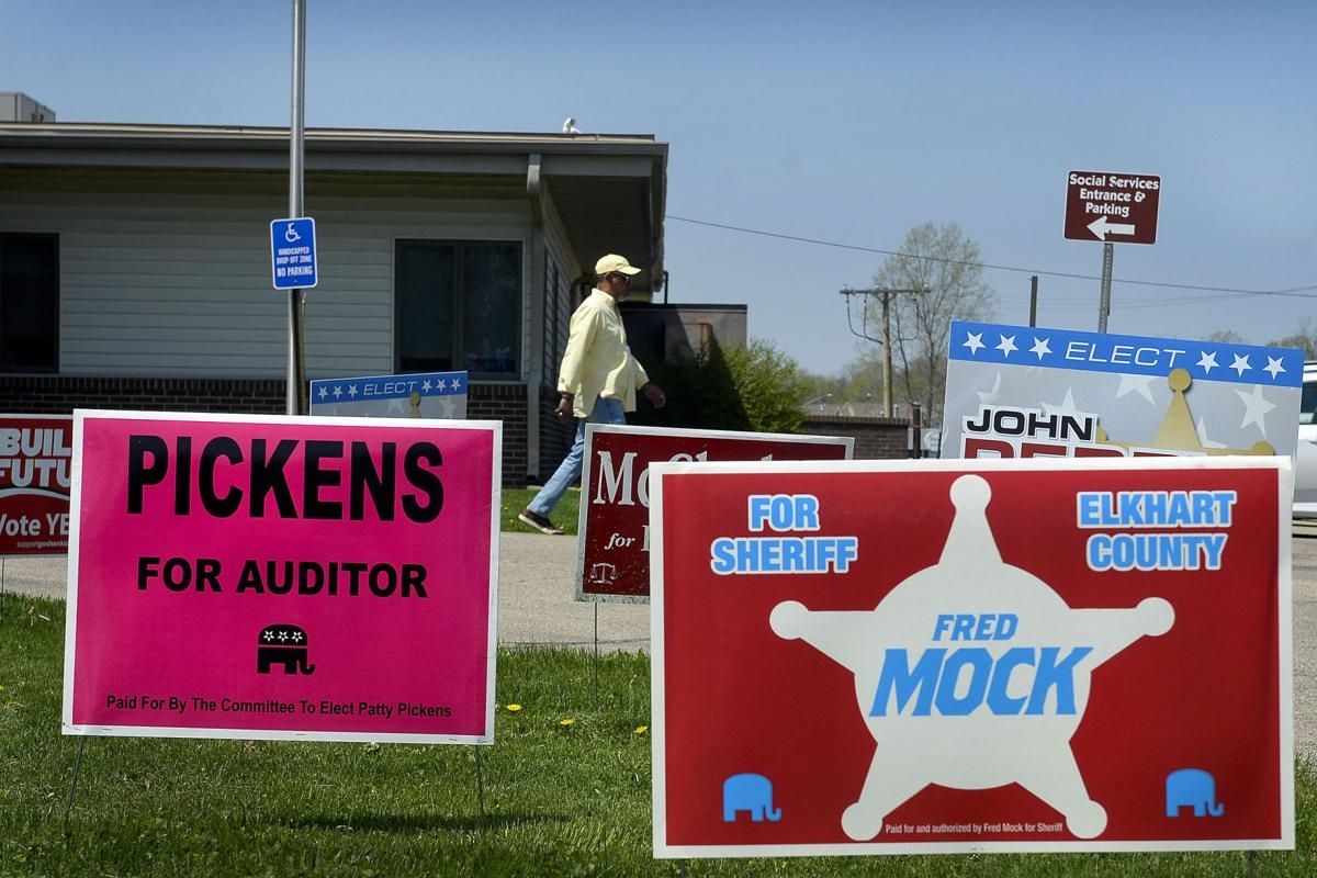 Campaign Signs in Yard
