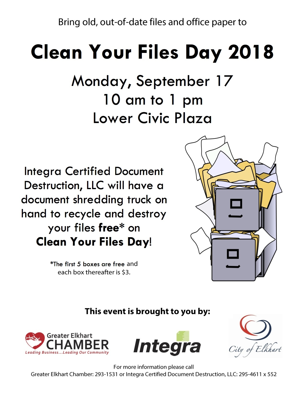 Elkhart Clean Files Day