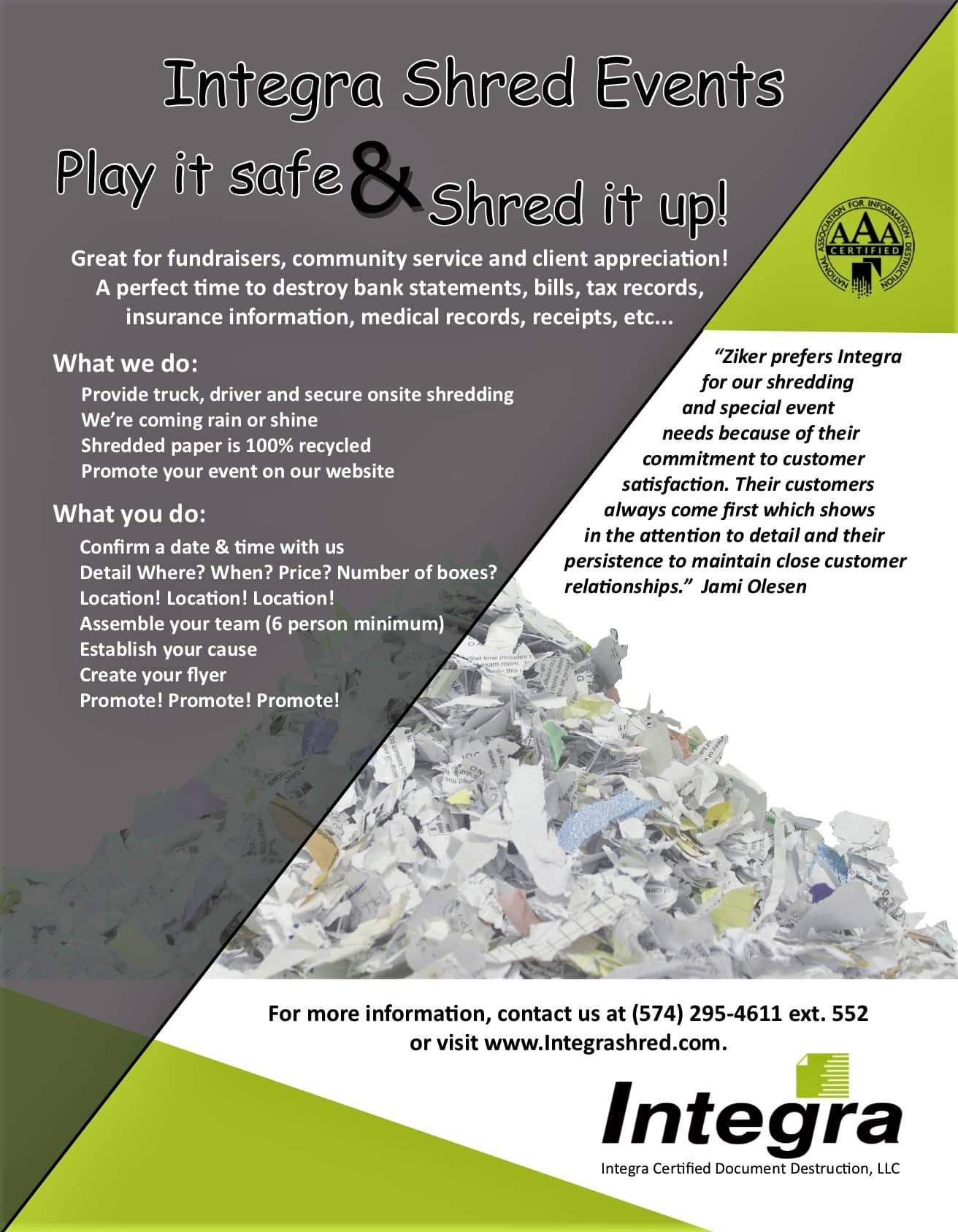 Holding a Shred Event