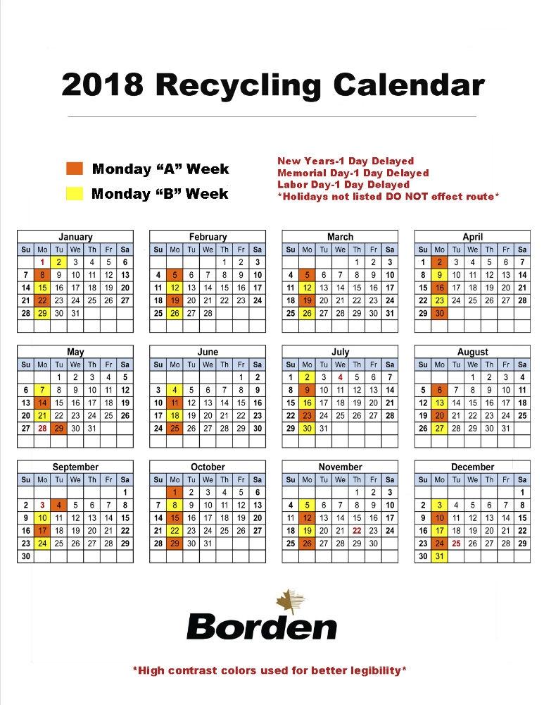 Monday Recycling 2018